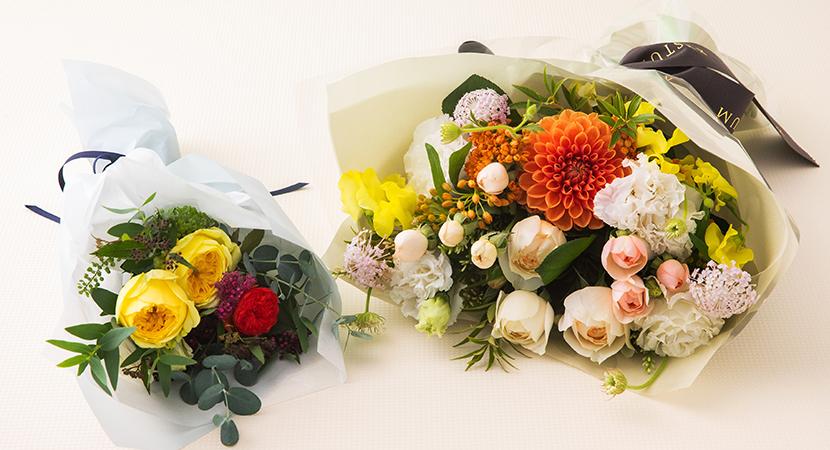 꽃다발 크기 비교 사진