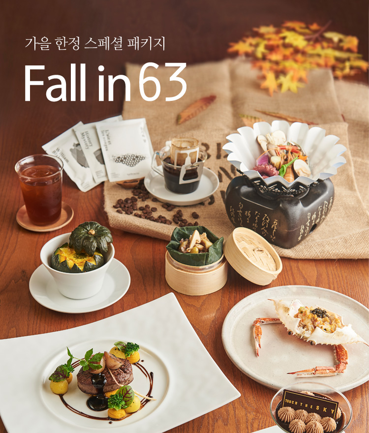 fall in 63 패키지 런칭